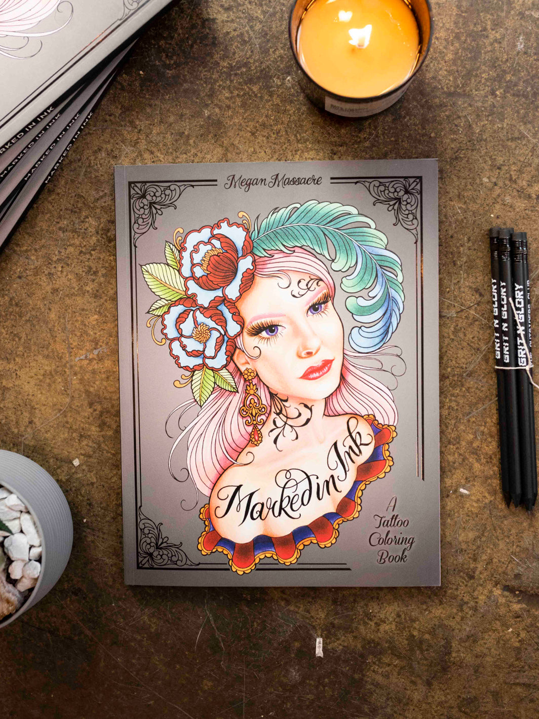 Marked In Ink: A Coloring Book - Grit N Glory