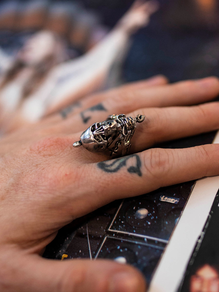 Skull and Sword Ring