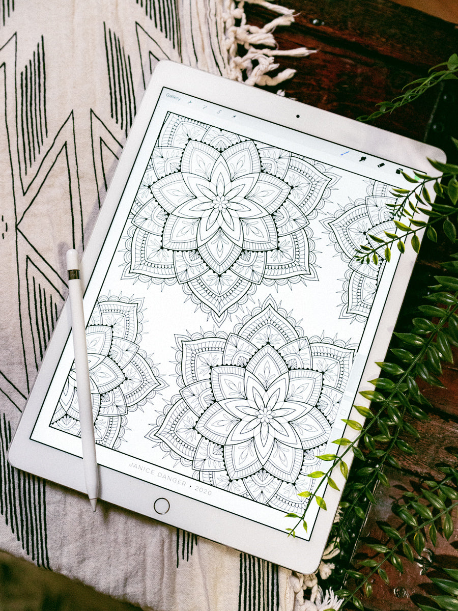 Mandala Coloring Sheet Set