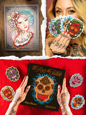 Megan Massacre Book and Sticker Pack