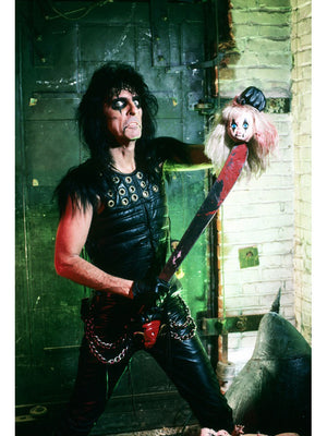Alice Cooper with Machete print from rock photographer Mark Weiss
