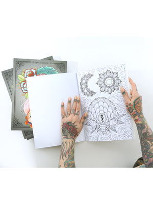 Marked In Ink: A Coloring Book