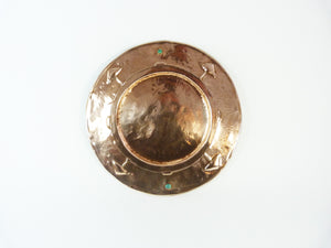Arts & Crafts Copper Charger