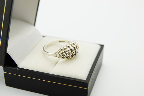 Vintage Modernist Silver Bobble Ring