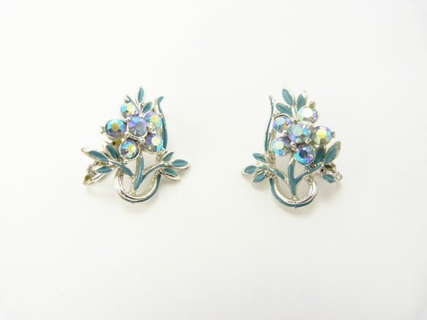 Jewelcraft Blue Clip On Earrings