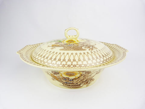 Vintage Myott & Sons Bonnie Dundee Serving Dish Tureen