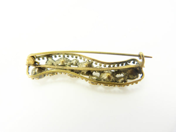 Antique Edwardian Paste Lace Pin Bar Brooch