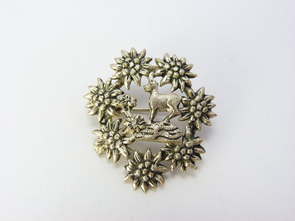 Vintage Deer Brooch
