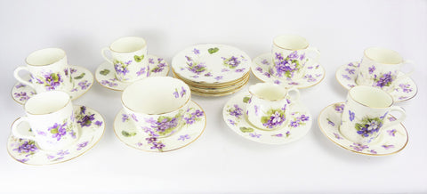 Hammersley & Co. Victorian Violets Tea/Coffee Set