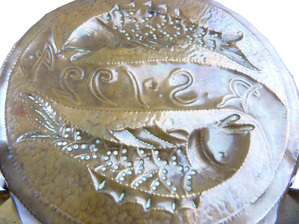 Arts & Crafts Newlyn School Cooper Fish Pin Tray