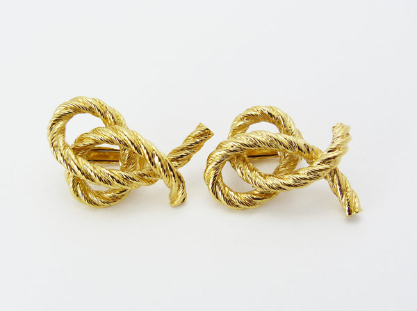 Gold Rope Twist Earrings