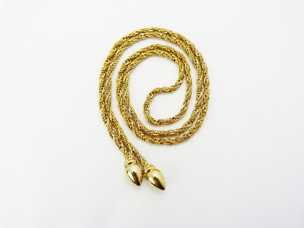 Henkel & Grosse 1970s Gold Rope Twist Necklace