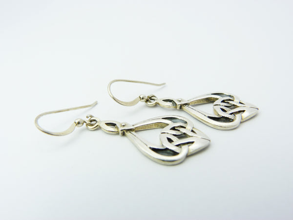 Silver Celtic Mackintosh Earrings