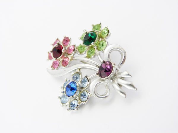 Vintage Flower Spray Brooch