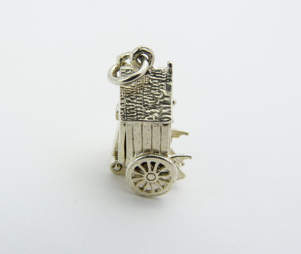 Silver Victorian Bathing Carriage Charm