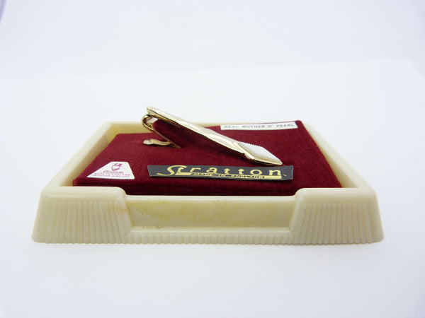 Stratton Mother of Pearl Tie Clip