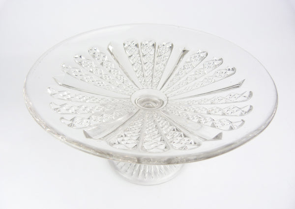 Vintage Cut Glass Cake Stand