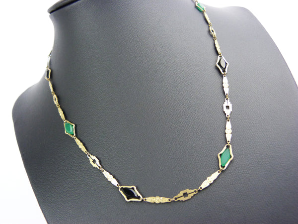 Art Deco Rodi and Wienenberger Rolled Gold Necklace