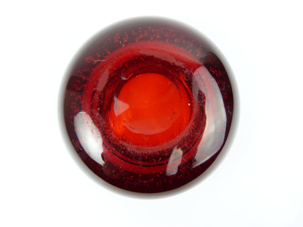 Whitefriars Red Glass Controlled Bubble Bowl