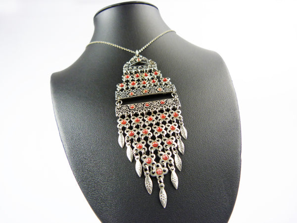 Art Deco Egyptian Revival Necklace Tassel Necklace