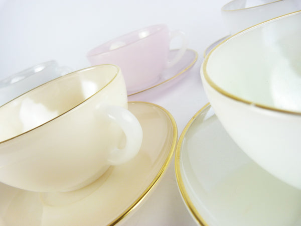 Arcopal France Harlequin Tea Set