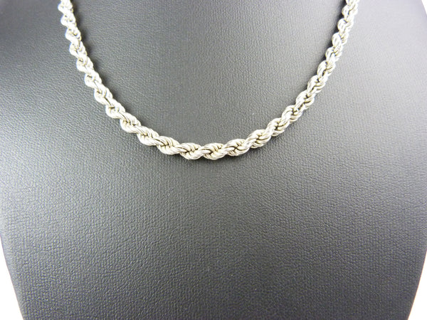 Vintage Silver 925 Rope Chain Necklace Men's