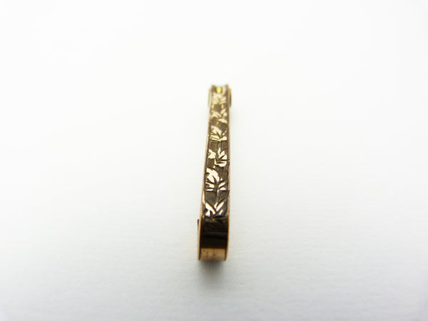 Antique Edwardian Gold Plated Bar Brooch Stamped S P & S