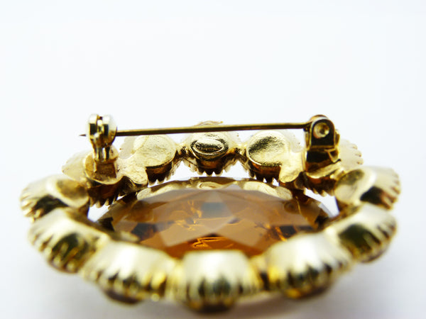 Vintage Amber Glass Sphinx Brooch