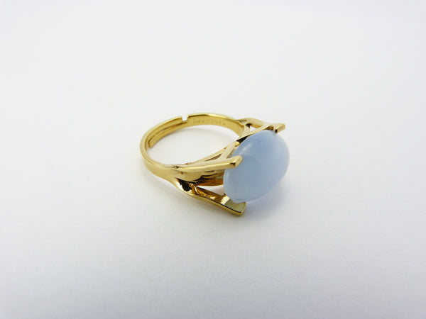 Vintage Sarah Coventry Art Glass Adjustable Ring