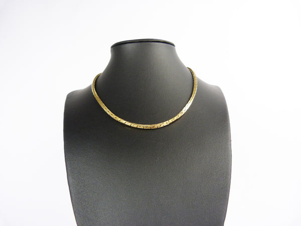 Vintage Gold Plated Chain Necklace