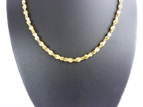Vintage 1980's Gold Tone Chain Necklace