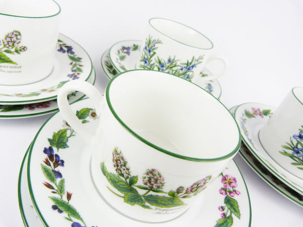 Royal Worcester Herbs Tea Cups Set