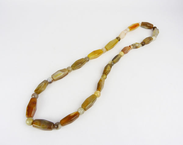 Vintage Chunky Multi Coloured Agate Necklace