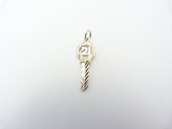 Vintage Silver 21st Key Of The Door Charm