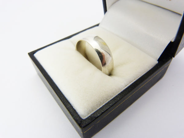 Vintage Sterling Silver Wedding Band Ring UK Size R