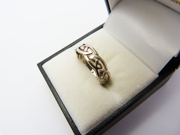 Vintage Sterling Silver Celtic Knot Ring