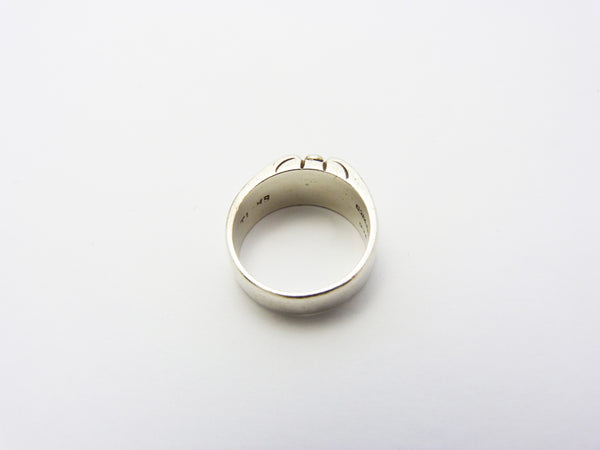 Vintage Modernist Silver Mexico Ring