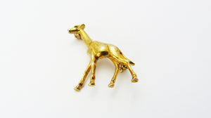 Vintage Gold Plated Giraffe Brooch