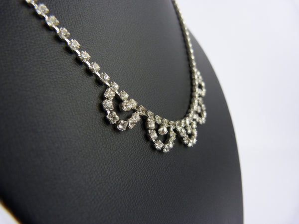 Vintage Crystal Diamante Necklace