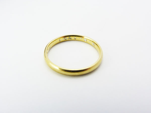 Vintage Gold Plated Gold & Silver Band Ring
