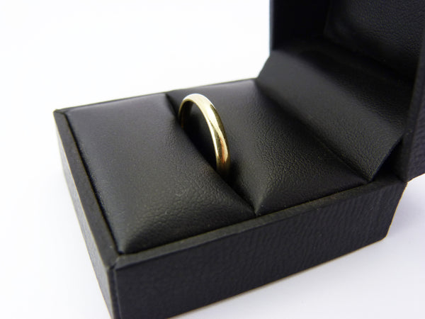 Vintage Gold Plated Gold & Silver Band Ring UK Size M 1/2
