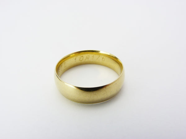 Vintage Gold Plated Wedding Band Ring UK Size T Half