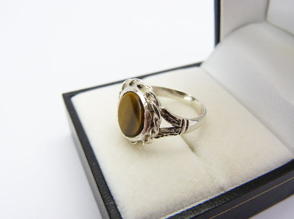 Vintage Silver & Tigers Eye Ring
