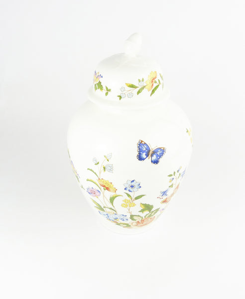 Vintage Aynsley Cottage Garden Ginger Jar