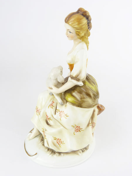 Vintage Alfretto by Mauri Porcelain Figurine - Lady With Lamb Figurine