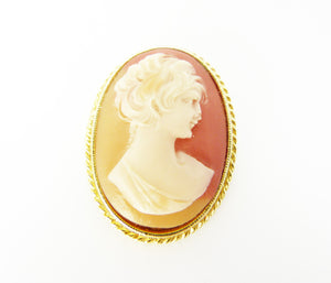 Cameo Brooch Signed SPHINX