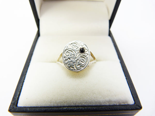 Sterling Silver Signet Ring Size M 1/2