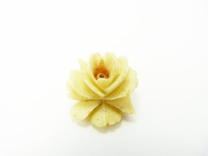 Victorian Hand Carved Bone Rose Bud Brooch