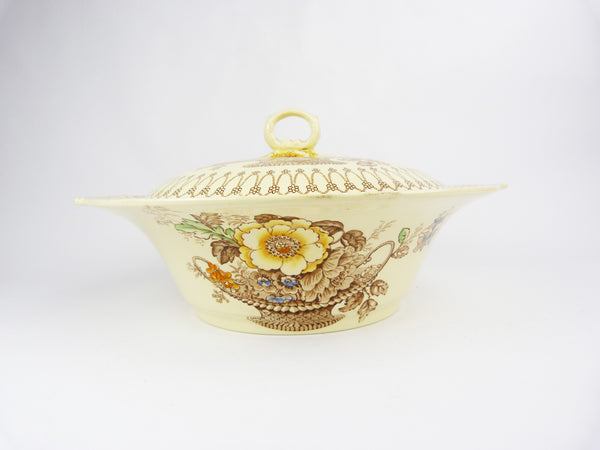Vintage Myott & Sons Made In England Bonnie Dundee Tureen - Serving Dish