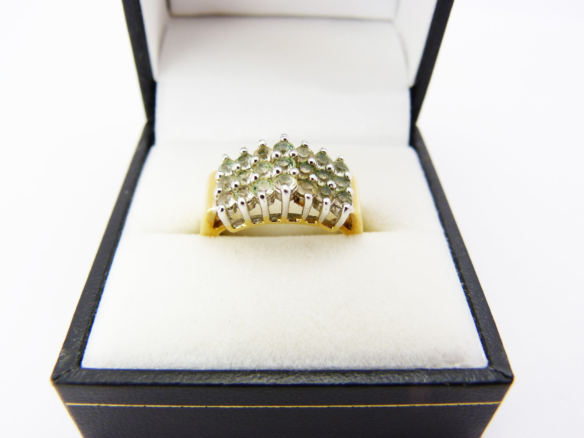 Vintage Crystal Rhinestone Faux Diamond Cocktail Ring